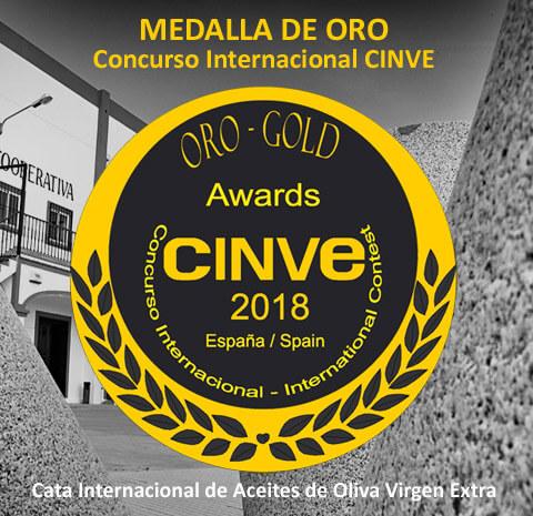 Olibeas medalla de oro cata internacional CINVE 2018